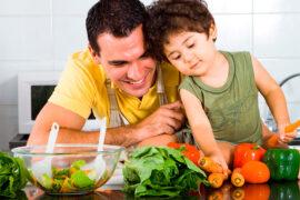 Padre e hijo fortaleciendo sistema inmune