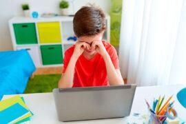 La salud visual de los niños puede verse afectada